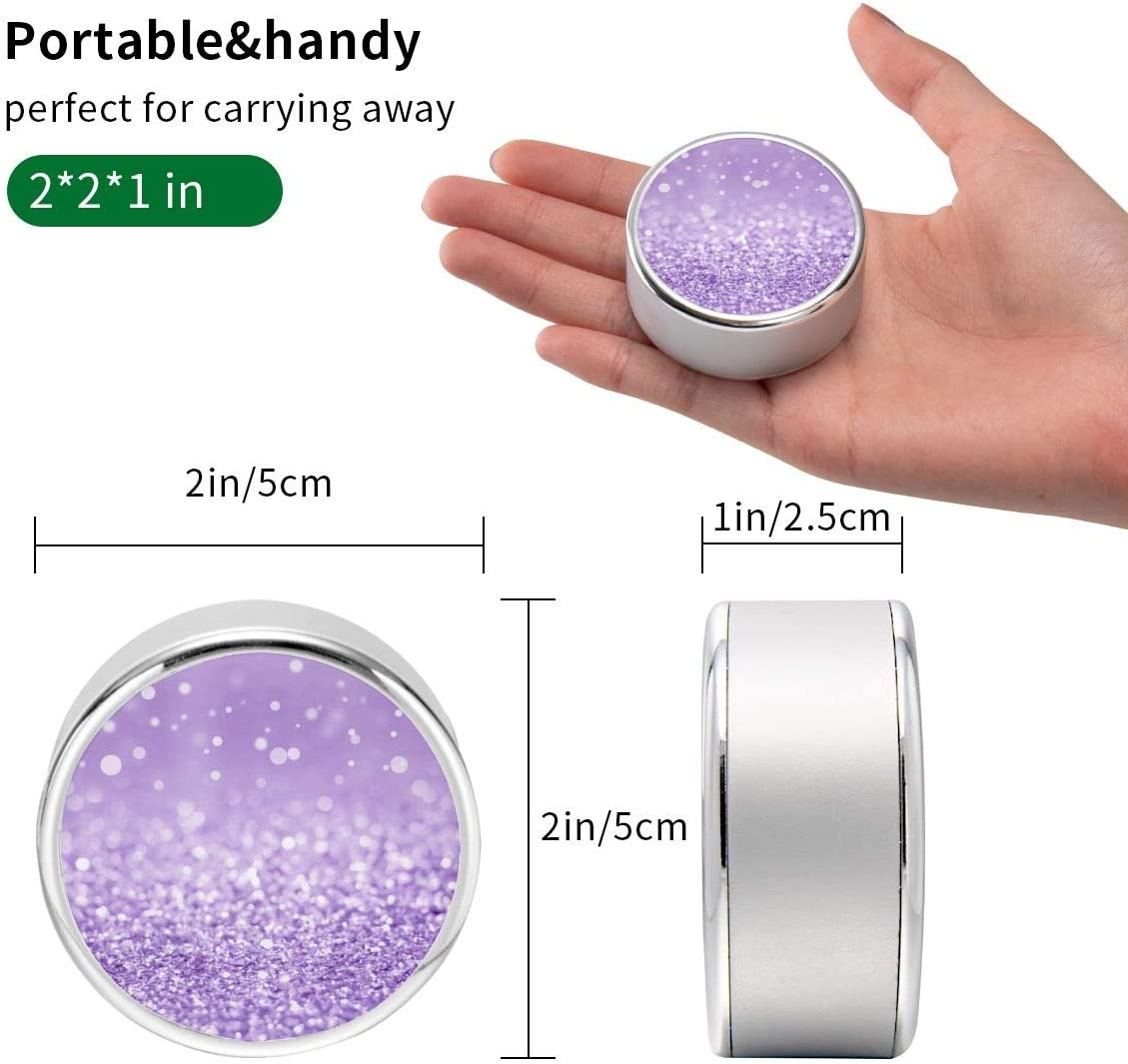 Charging Cable Round USB Data Cable Can Be Charged and Data Transmission Synchronous Fast Charging Cable-Purple Glitter(方)