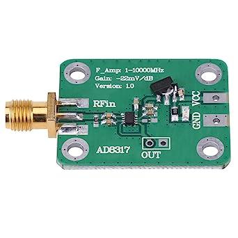 Akozon 1M-10000MHz AD8317 RF Detector de señal Medidor de potencia logarítmica dinámico