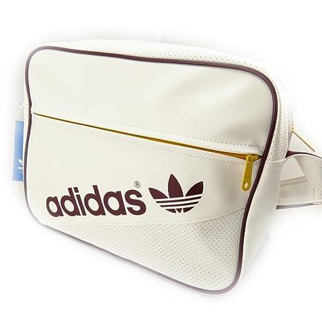 ea0143dde8 Borsa a tracolla 'Adidas' vintage beige.: Amazon.it: Valigeria