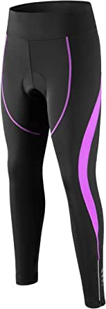 SPOEAR Women's Cycling Tights 3D Padded Compression Tight Long Bike Bicycle Pants with Wide Waistband