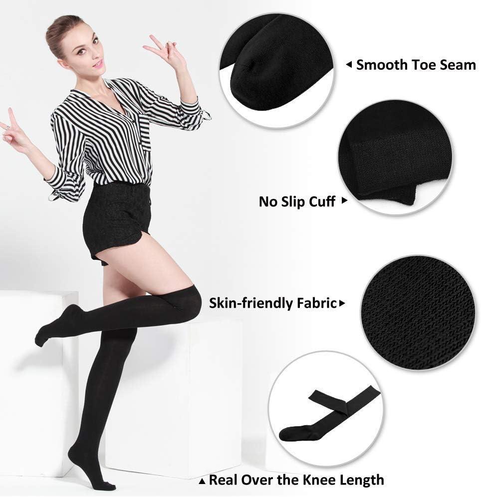 Rock N Roll Over Knee Thigh High Tube Boot for Graduated//Sport//Medical//Running//Travel//Nurse//Pregnant Leg Warmer Stockings Women Soft Warm Long Socks