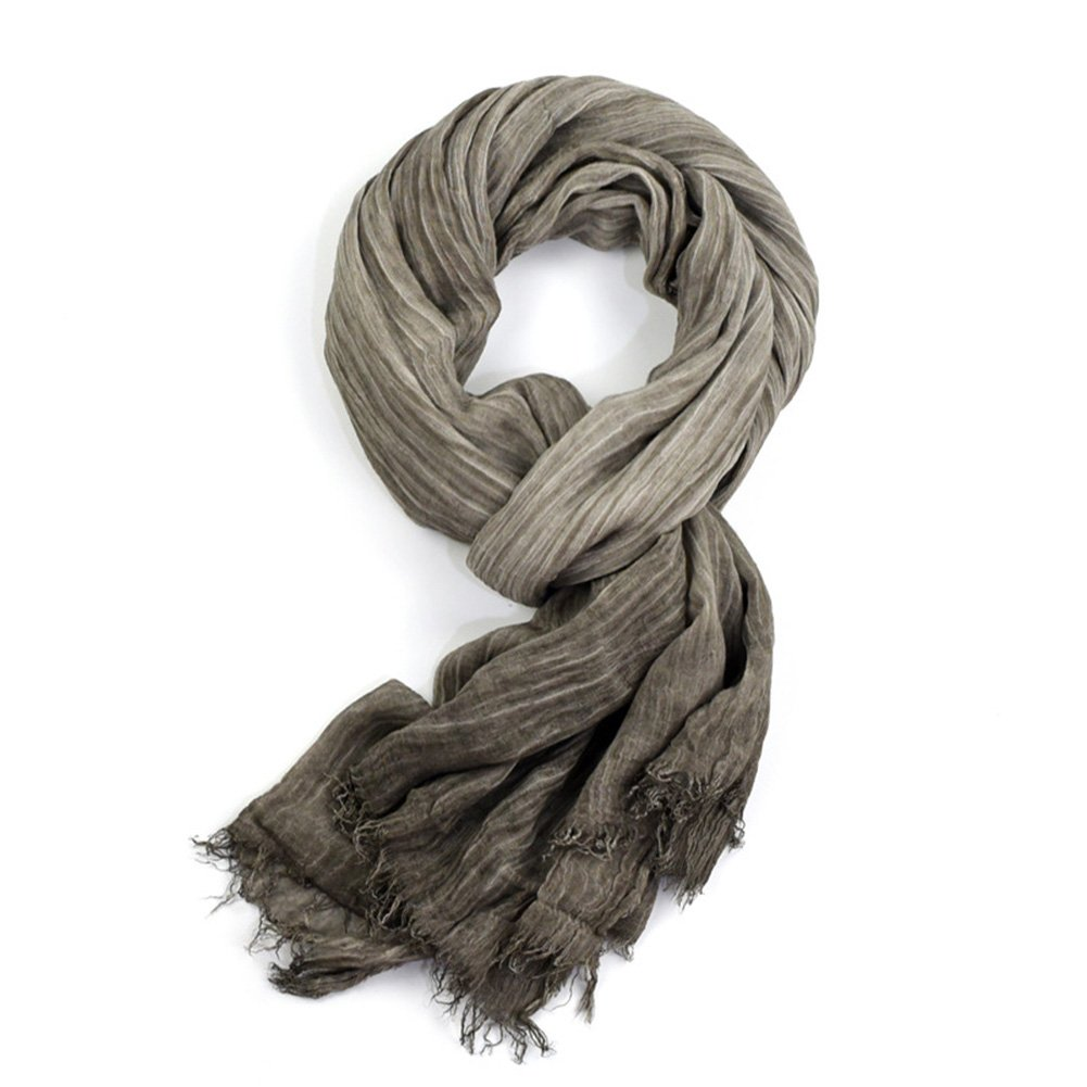 HaloVa Men's Scarf, Fashion Warm Autumn Winter Cotton Scarf, Muffler Neckerchief for Men Boys, Gray
