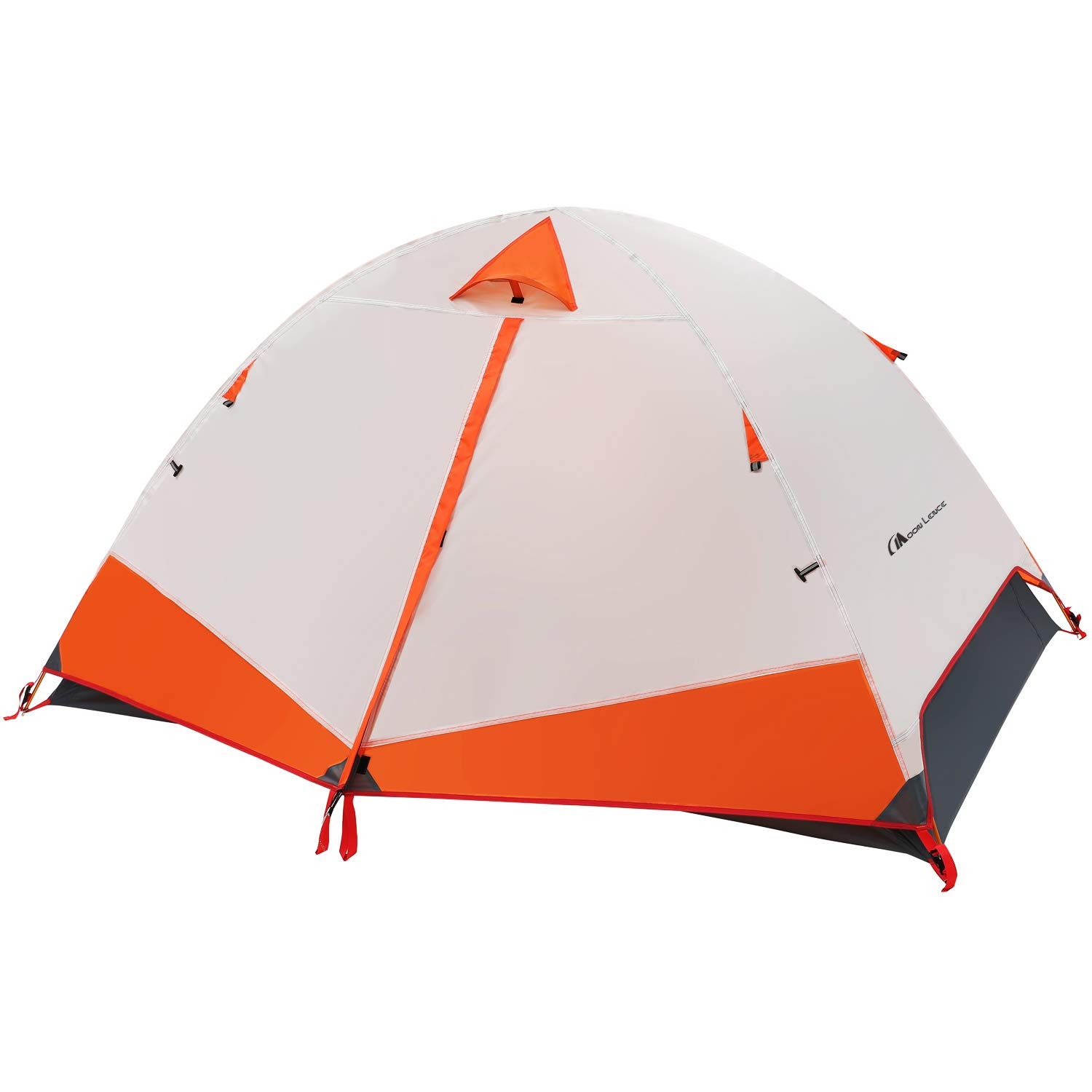 MOON LENCE Camping Tent 2 Person Family Tent Double Layer Outdoor Tent Waterproof Wind Proof Anti-UV by MOON LENCE