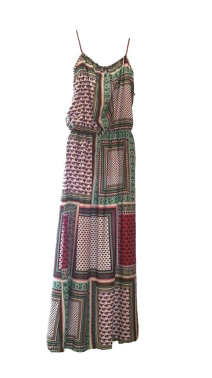 Aimerfeel patrón maxi reticular tamaño vestido maxi patrón del verano colorido cuadrado (40-42) 5d70de