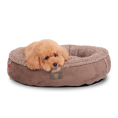 Pet bed Cama para Mascotas Redonda marrón Algodón Lavable Four Seasons Cama para orinar para Perros