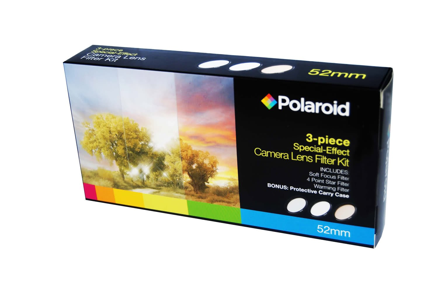 Polaroid Optics 72mm 3 Piece Special Effect Camera/Camcorder Lens Filter Kit (Soft Focus, Revolving 4 Point Star, Warming) by Polaroid