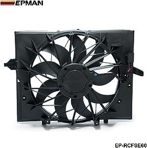 EPMAN Sport Radiator Cooling Fan Brushless Motor 17427543282 For BMW 5 Series.