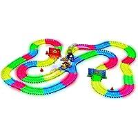 Magic Traks Crash Set - Circuito Luminoso de 3,35 Metros modulable y Brillante en la Oscuridad, Vista en la televisión