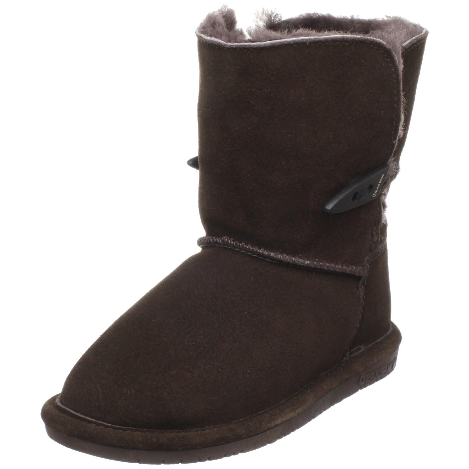 BEARPAW Abigail Shearling Boot (Little Kid/Big Kid),Chocolate,1 M US Little Kid