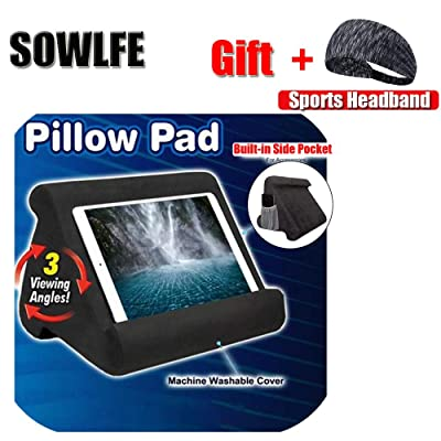 sowlfe pillow pad stand for pad tablet multi angle soft pad pillow cushion stand tablet stand pillow lap stand for tablets e readers smartphones