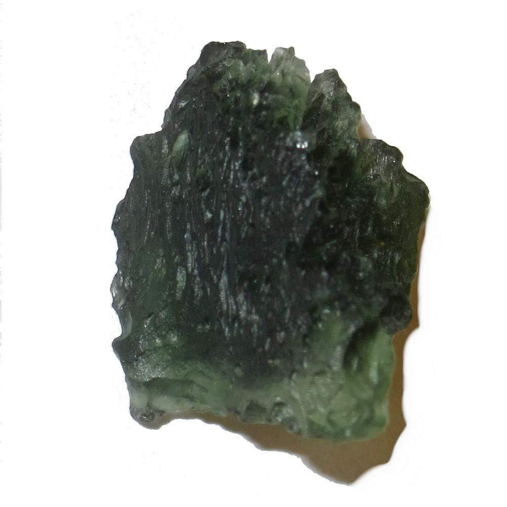 SatinCrystals Meteorite Moldavite Collectible Real Green Tektite Space Time Travel Star Gazer Gem- Monday Morning Czech Republic C51 (Neon Flyer)