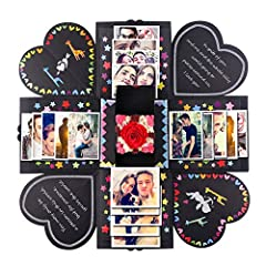 Package Included ◆1 Explosion Box + 1 Small Gift Box + 11 Funny Cards +16 Kinds of DIY Accessories Kit + Detailed Instructions in English, dress it up what you like what you want what you can. ◆Please Note The color and pattern of some access...