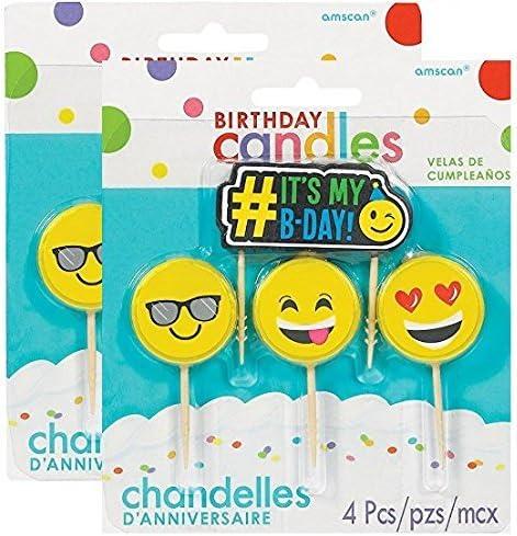 Emoji Pick Candle Set 4 ct, (2 pack)