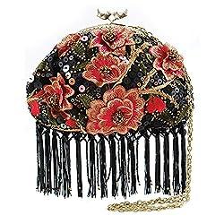 Mini Floral Cross-body Fringe Handbag