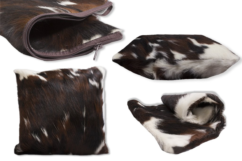Rodeo Tricolor Double Sided Cow skin Cowhide Pillow Cover by RODEO (Image #3)