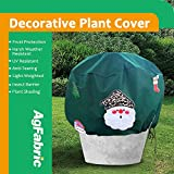 Agfabric Warm Worth 1.5 oz 10'' x 15'' Warm Worth Plant Cover Dark Green Christmas Decoration Fabric Plant Protecting Bag and Tree Cover Frost Protection(Random Pattern)