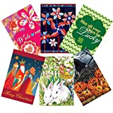 Morigins Seasonal Flag Set of 6 Double Sided Holiday Garden Flags 12.5×18 Inch For Sale