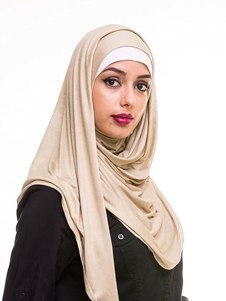 6564f68ed2e6 Amazon.com  Kashkha Women s Ready To Wear Instant Hijab Scarf (Mauve ...