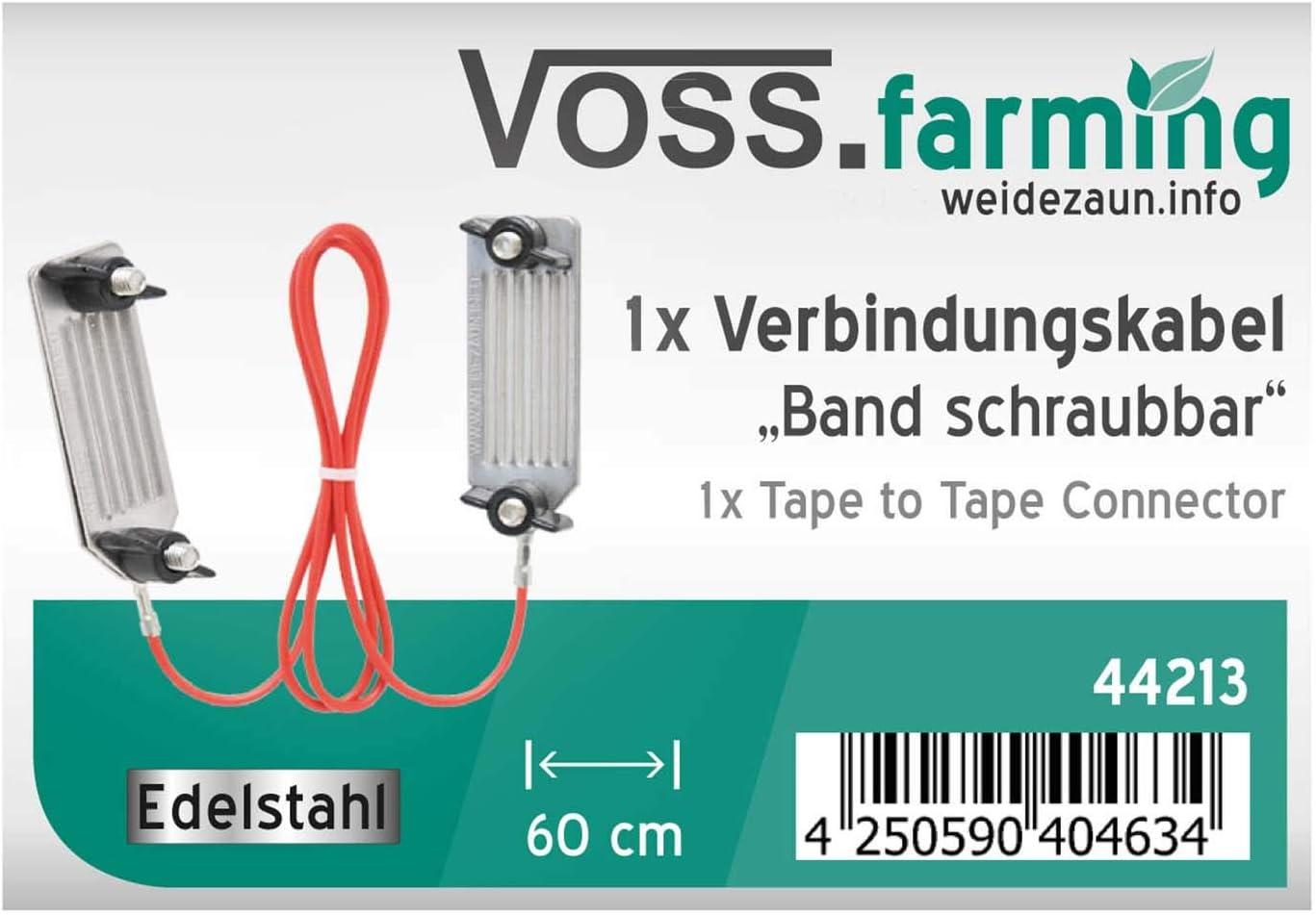 C/âble de raccordement pour ruban VOSS.farming 60 cm acier inoxydable /à visser
