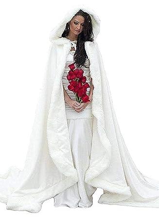 32b8f20c7 FairyBridal Women s Wedding Bridal Cloak Winter Christmas Capes Faux ...
