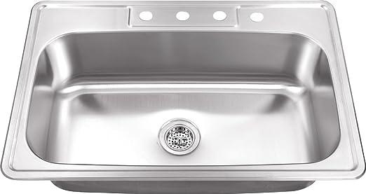 Amazon.com: MSDP3322SB - Fregadero de cocina de acero ...