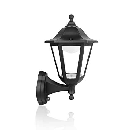 SPECILITE Exterior LED Wall Lantern, Hexagon Light Fixtures, 10W 800LM Dusk-to-Dawn Durable Plastic Lamp for Front Porch, Garage, Patio - - Amazon.com