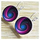 Darkey Wang Women's Time Gemstone Retro Peacock Feathers Earrings