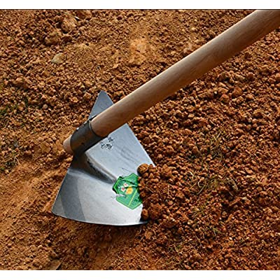 Solid Aim Tools Pointed Hoe-Weeding Razor,Professional Warren Triangular Hoe,Ergonomic Weeding Tool,10-Inch x 11-inch Head, with 47.25-inch Wood Handle.Simple Assembly Required !: Baby