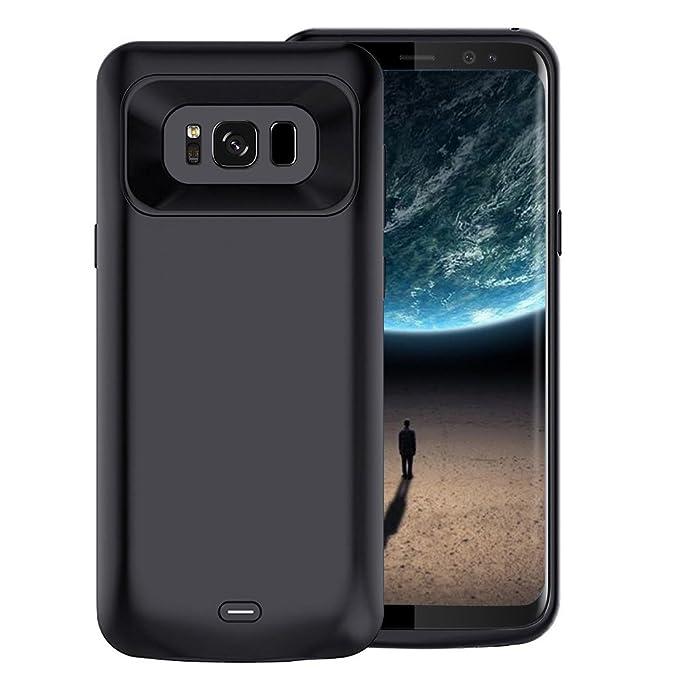 para Samsung Galaxy S8 Funda Cargador, Funda Slim batería Extended batería de 5000 mAh, Batería portátil Power Bank de Carga Protectora para Samsung ...