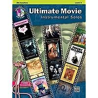 Ultimate Movie Instrumental Solos: Alto Sax, Book &