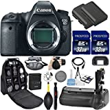 Cheap Canon EOS 6D DSLR Camera (Body Only). Kit Includes, 2Pcs 32GB Commander MemoryCard + Battery Grip + Extra Battery + Backpack Case + Grip Strap + Air Blower + Cleaning Kit