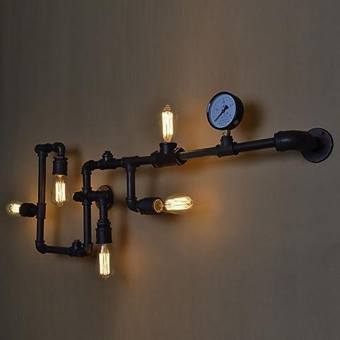 BAYCHEER Lampe Applique Murale Rétro Industrielle E27 avec 5 ...
