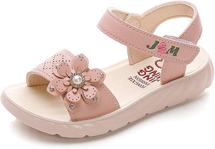 Childs Girls Kids Diamond Ankle Strap Sandals Girls Flat Sole Size UK 10-2