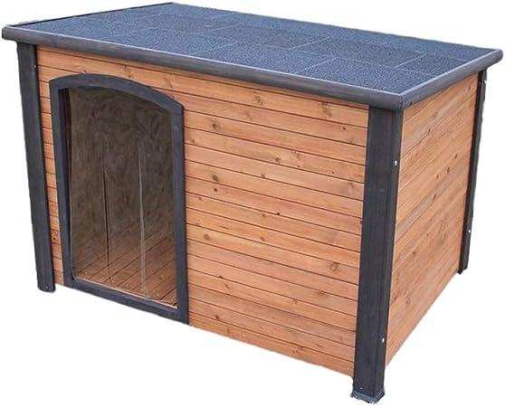 Casetas para perros Casa De Mascotas Casa De Perro Grande De Madera Maciza Jaula Para Perro
