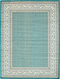Cheap A2Z Rug Traditional Caen Collection Rugs Teal 9′ x 12′ -Feet Area rug