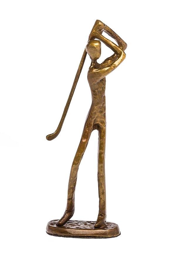 Skulptur Fussball Fussballer Antik-Stil Bronze Figur Moderne Pokal Trophäe