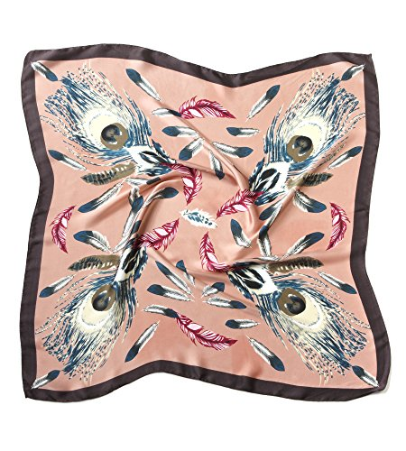 EUPHIE YING Women's Fashion Pattern Silk Like Square Scarf Large Satin (Paisley Square Scarf)