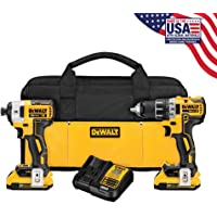 Deals on DEWALT DCK283D2 2-Tool 20-Volt Brushless Motor Cordless Combo Kit