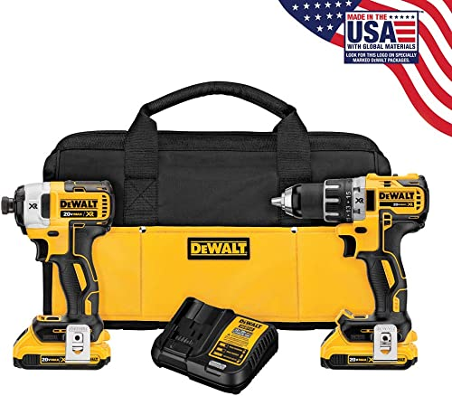 DEWALT 20V MAX XR Cordless Drill Combo Kit, Brushless, 2-Tool DCK283D2