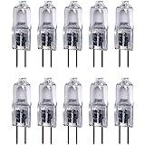 Vstar G4 12V 20W Halogen Bulb JC Type Bi-Pin Light,Clear, G4 Bi-pin Base, Halogen Light Bulb (20W 10Pack)