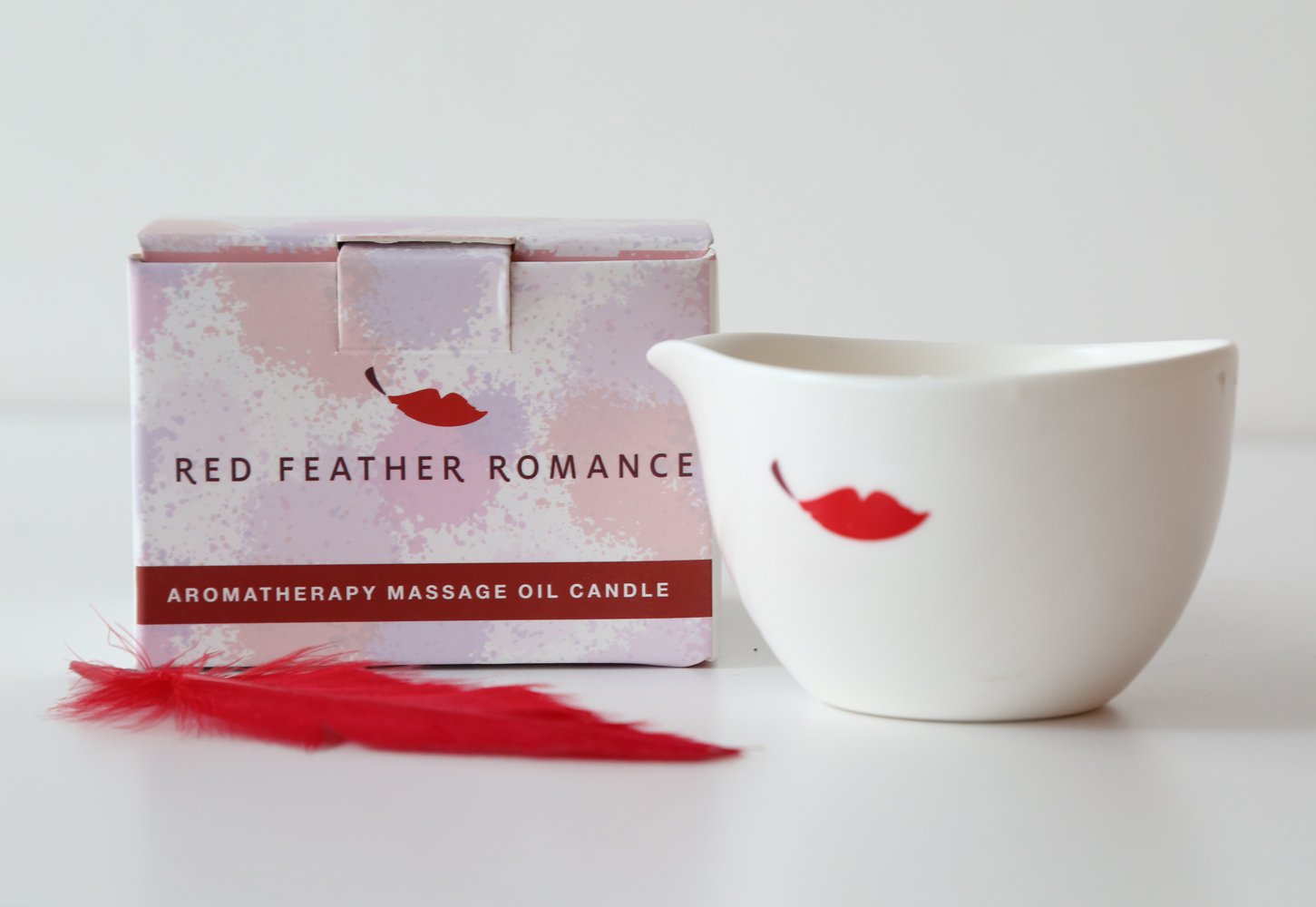 Natural Jasmine Sensual Aromatherapy Massage Oil Candle Made with Soy Wax and Essential Oils by Red Feather Romance