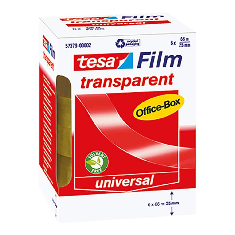 10x tesa Klebefilm PP in OfficeBox transparent leicht abrollbar Klebeband Papier