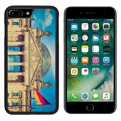 MSD Premium Apple iPhone 7 Plus Aluminum Backplate Bumper Snap Case Vintage looking Reichstag German houses of parliament in Berlin Germany IMAGE 29969717