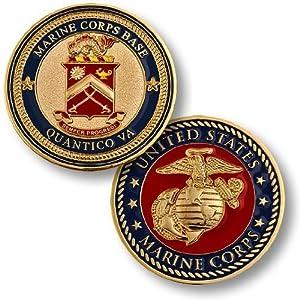 Marine Corps Base Quantico VA Challenge Coin