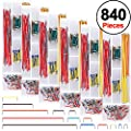 Austor 840 Pieces Preformed Breadboard Jumper Wire Kit 14 Lengths Assorted Jumper Wire For Breadboard Prototyping Solder Circuits