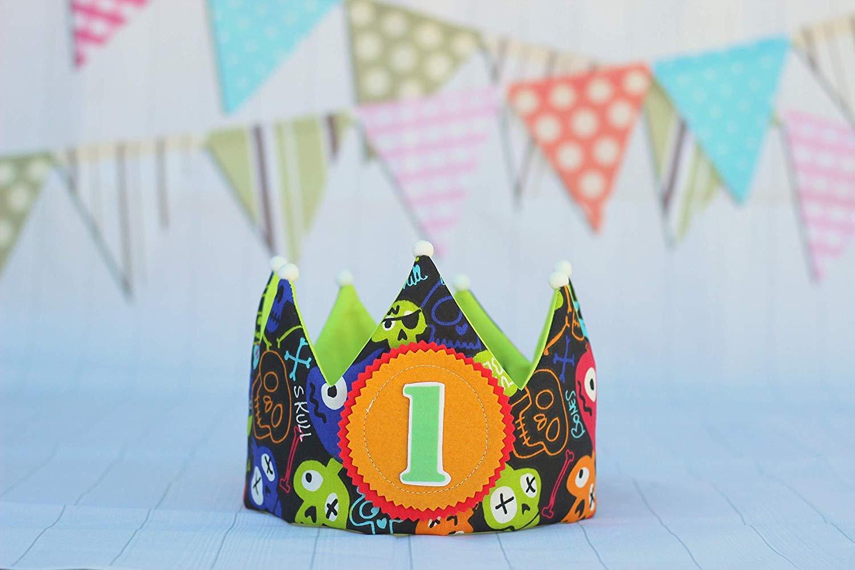 Corona de cumpleaños niño, corona de tela para fiesta ...