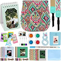 Katia - for Fujifilm Instax Mini 9 - Ice Blue Instant Camera, Fujifilm Instax Mini 8 Instant Film Camera. Fuji Case with Strap, Photo Album, Frame, Selfie Len, Filters, Stickes & more. 12 in 1