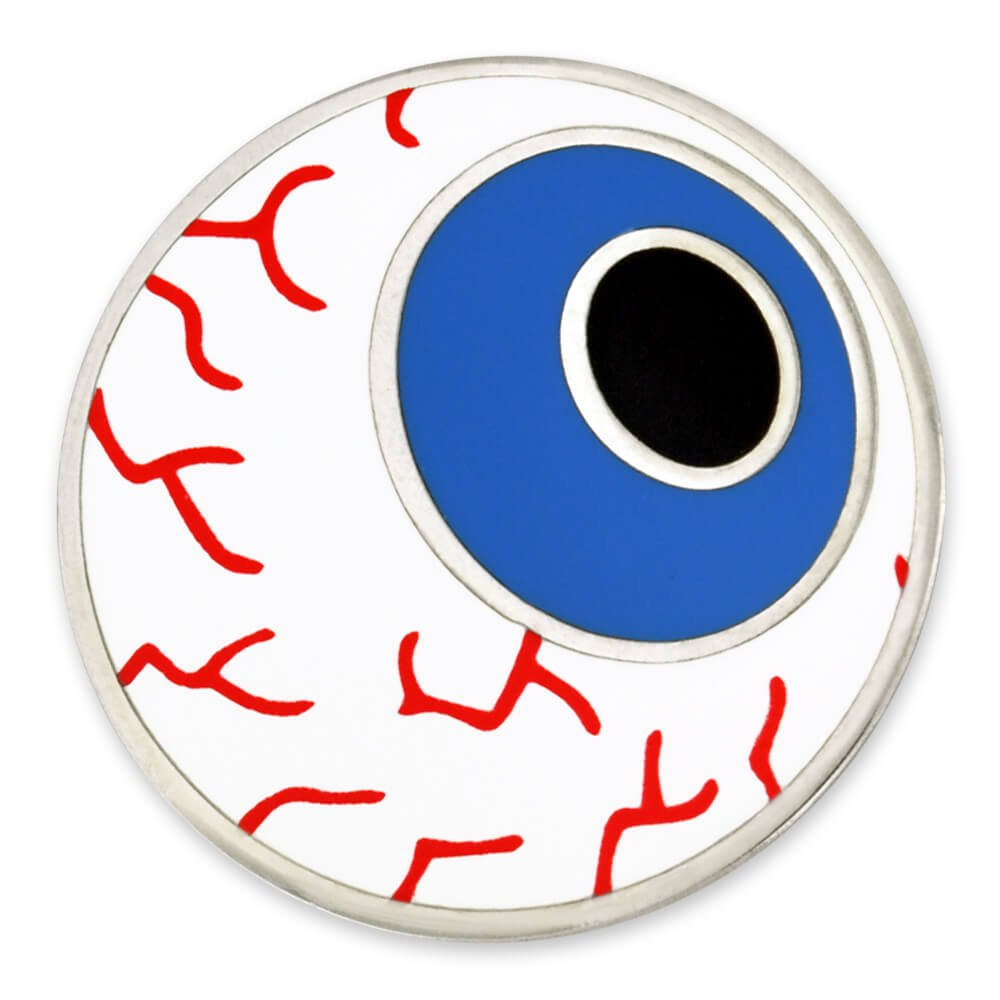 PinMart Human Eyeball Medical Halloween Fun Enamel Lapel Pin