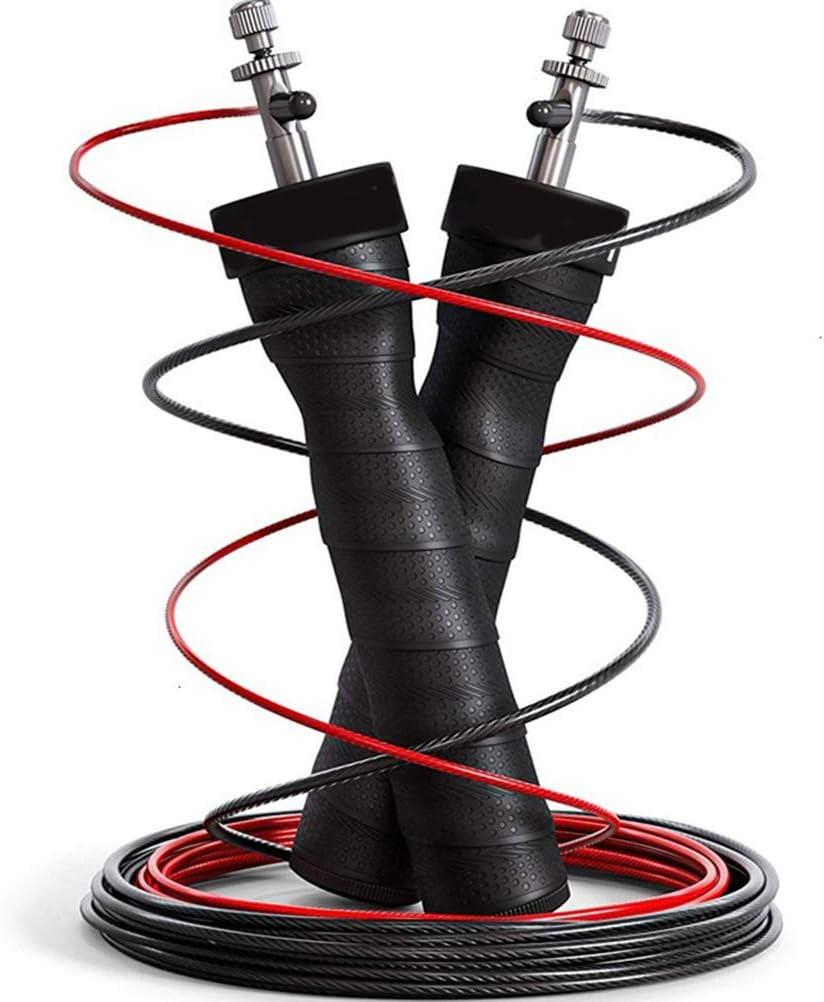 FuYouTa Cuerda de Saltar Cuerda de Salto de Velocidad Cuerda de Salto Ajustable Cuerda de Salto de Fitness Deporte Gimnasio en Casa Rodamientos de Bolas Profesionales Ajustables
