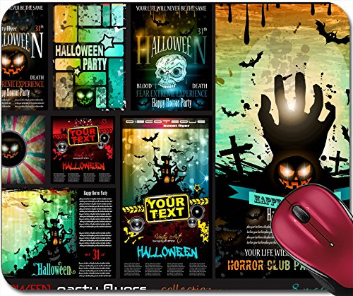 Liili Mousepad IMAGE ID 32322977 Halloween Party Flyer with creepy colorful elements with a black portion of background for your t (Halloween Flyer Background)